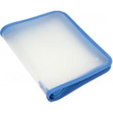 Папка на молнии пластиковая Economix B5 голубая (20) №E31645-11