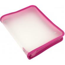 Папка на молнии пластиковая Economix B5 розовая №E31645-09