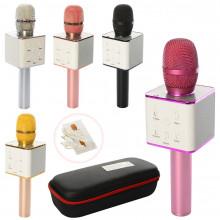 Микрофон на аккумуляторе,25 см,USB,Bluetooth,в футляре,28 х11,5 х7 см,микс цветов (10) №Q7