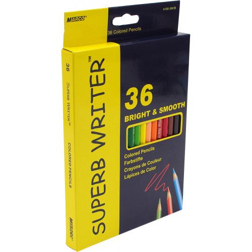 Олівці кольорові 36 кольорів Marco (4) (80) 4100-36CB