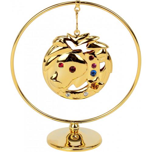 "Сувенир кольцо ""Лев"" Cristocraft цветной 0454-105/GA"