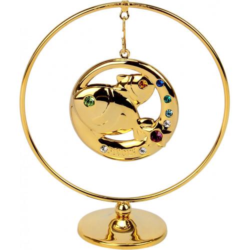 """Сувенир кольцо """"Рыбы"""" Cristocraft цветной 0461-105/GA"""