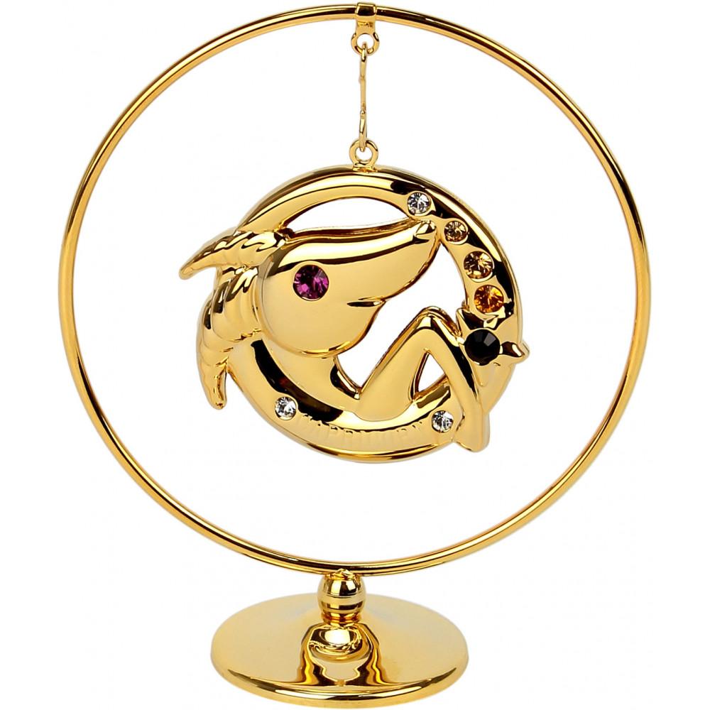 "Сувенир кольцо ""Козерог"" Cristocraft цветной 0459-105/GA"