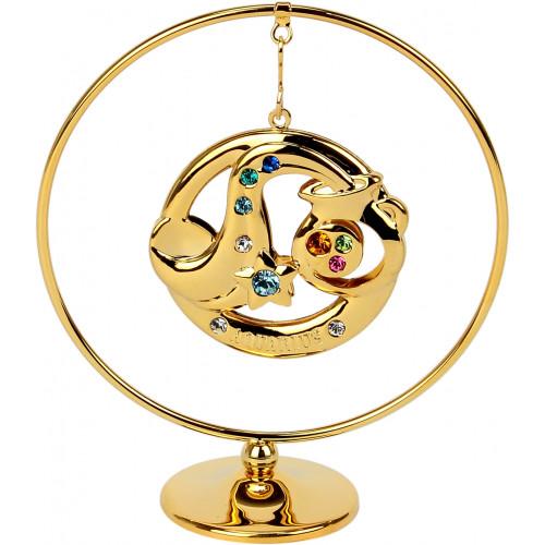 """Сувенир кольцо """"Водолей"""" Cristocraft цветной 0460-105/GA"""