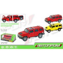 Машина металева Автопром Hummer, М1: 24 в коробці (12) КІ 68240/68240A