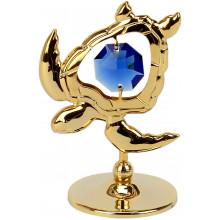 """Сувенир """"Черепаха"""" синий Cristocraft №0273-001-GDBE"""