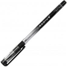 Ручка кулькова Radius I-pen 0,7мм чорна напівпрозорий корпус, картонна упаковка (50) (300) (1200) 0184