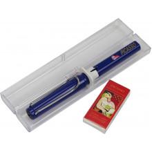 Ручка чорнильна  Picasso в подарунковій упаковц синій корпус 451