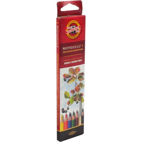Олівці кольорові 6 кольорів акварельні Koh-i-noor Aquarelle №3715