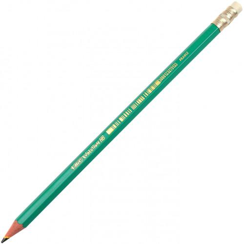 Олівець графітний Bic Еволюшн зелений з гумкою (4) (12) (72) №880332/924/012