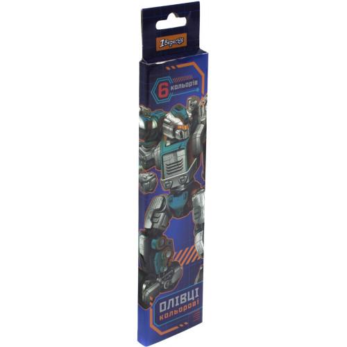 Олівці кольорові 1 Вересня Steel Force 6 кольорів (24) 290522