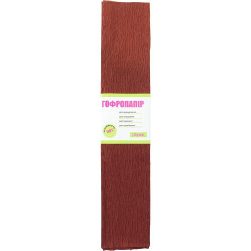 Папір гофра 7 2мх50 см 110% 35,7 г/м2 1 Вересня коричневий (10) (200) 701537
