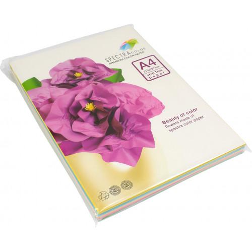 Папір кольоровий А4 160г/м2 пастель 5х20 Spectra Color-Rainbow Pack Ligt IT 82 M 100 шт