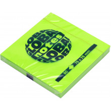 Блок для заметок с липким слоем 75х75мм 80 листов neon green GN Global Notes (12) №3654-33