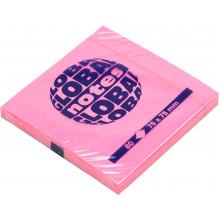 Блок для заметок с липким слоем 75х75мм 80 листов neon pink GN Global Notes (12) 3654-32