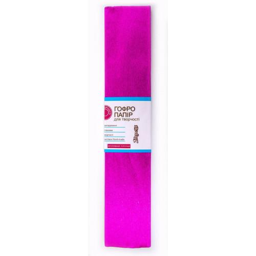 Папір гофра металік 2мх50 см 20% 1 Вересня пурпурний (10) 703006