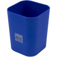 Подставка для ручек Rubber Touch пластиковая, синяя (12) №6352-02