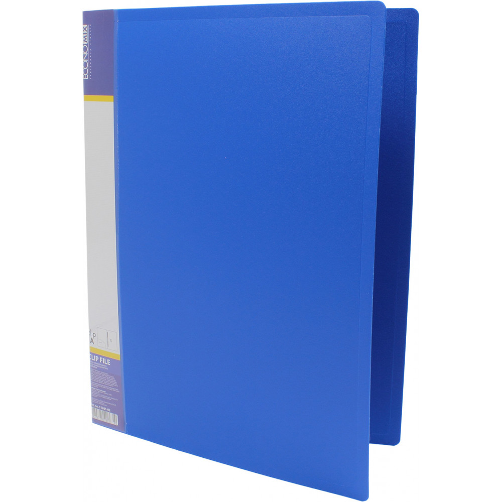 Папка-усы Economix E31201-02 А4 CLIP A пластиковая 2 кармана синяя