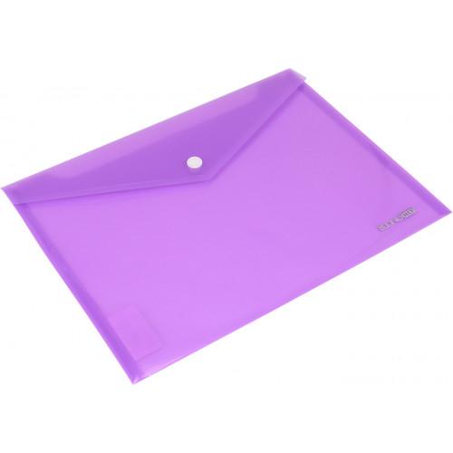 Папка-конверт Economix B5+ на кнопці фіолетова (12) (180) E31302-12