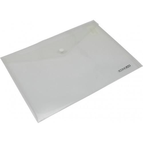 Папка-конверт Economix B5+ прозора на кнопці (12) (180) E31302-00