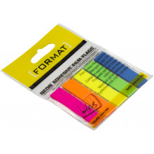 Стикеры-закладки Economix Light 12х45 5 неоновых цветов, 100 шт (20) №E27945