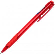 Ручка автоматическая шариковая Digno Comfy прозрачная красная (50)