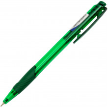 Ручка автоматическая шариковая Digno Comfy прозрачная зеленая (50) №2154