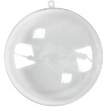 Заготовка пластиковая Плоский шар 9 см (5) №741193