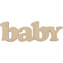 Заготовка фанера надпись baby 10 см (5)