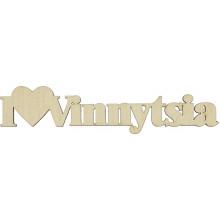 Заготовка фанера надпись I love Vinnytsia 3х16 см (5)
