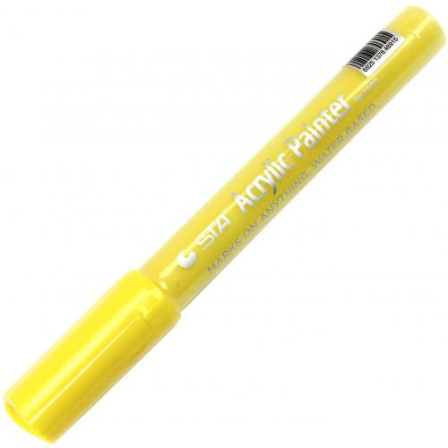 Маркер акриловий STA 2-3 мм світло-жовтий (10) 1000-Y107