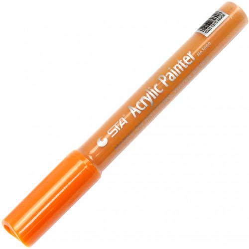 Маркер акриловий STA 2-3 мм помаранчевий (10) №1000-Y608