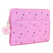 Чехол для ноутбука Yes Triango 1 отделение, 1 карман розовый №557822