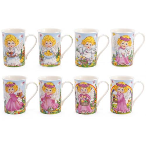 Чашка керамічна 270 мл Великодній ангел в подарунковій коробці (1) (48) №380-409 Bonadi