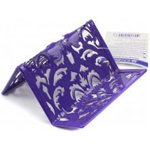 Підставка для візиток металева Buromax Barocco 6226-07 100х97х47мм фіолетова
