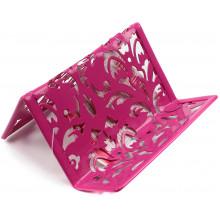Підставка для візиток металева Buromax Barocco 6226-10 100х97х47мм рожева