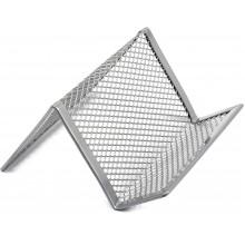 Підставка для візиток Axent 95х80х60мм металева срібляста (12) 2114-03
