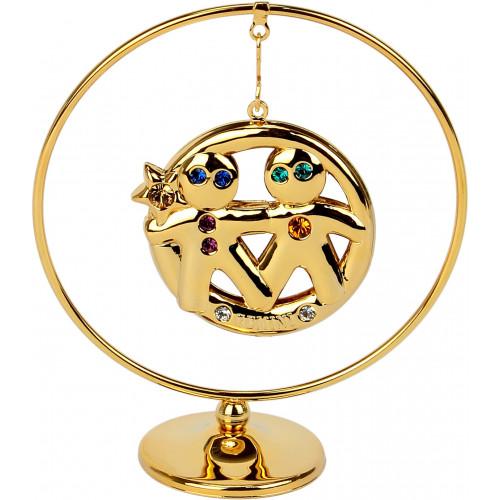 """Сувенир кольцо """"Близнецы"""" (цветной) №0452-105/GA Cristocraft"""