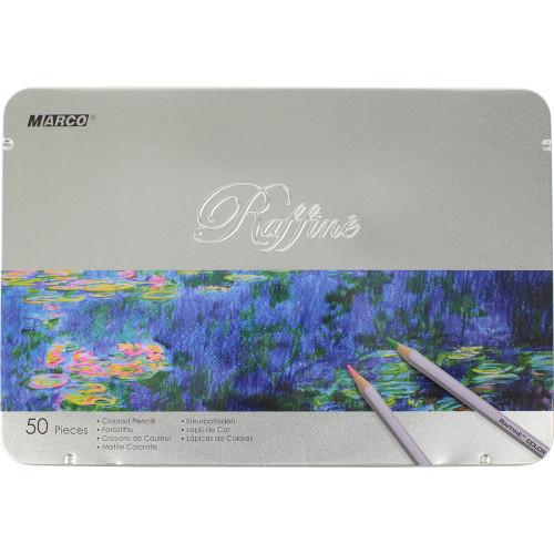Олівці кольорові Marco 50 кольорів металева коробка (4) (16) 7100-50TN
