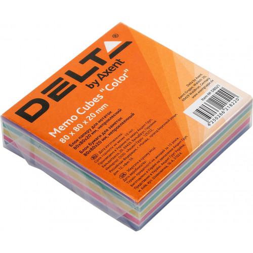 Блок для заміток неклеєний 80х80 мм 20 мм Delta by Axent Color (1) (120) 8021