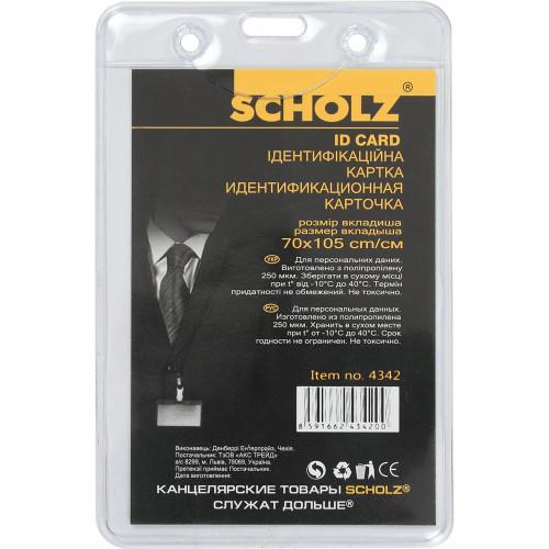Бейдж Scoolz вертикальний PVC 70х105 мм (10) 4342