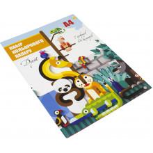 Бумага цветная A4 7 листов Цветной дуэт Тетрада (50) №1197