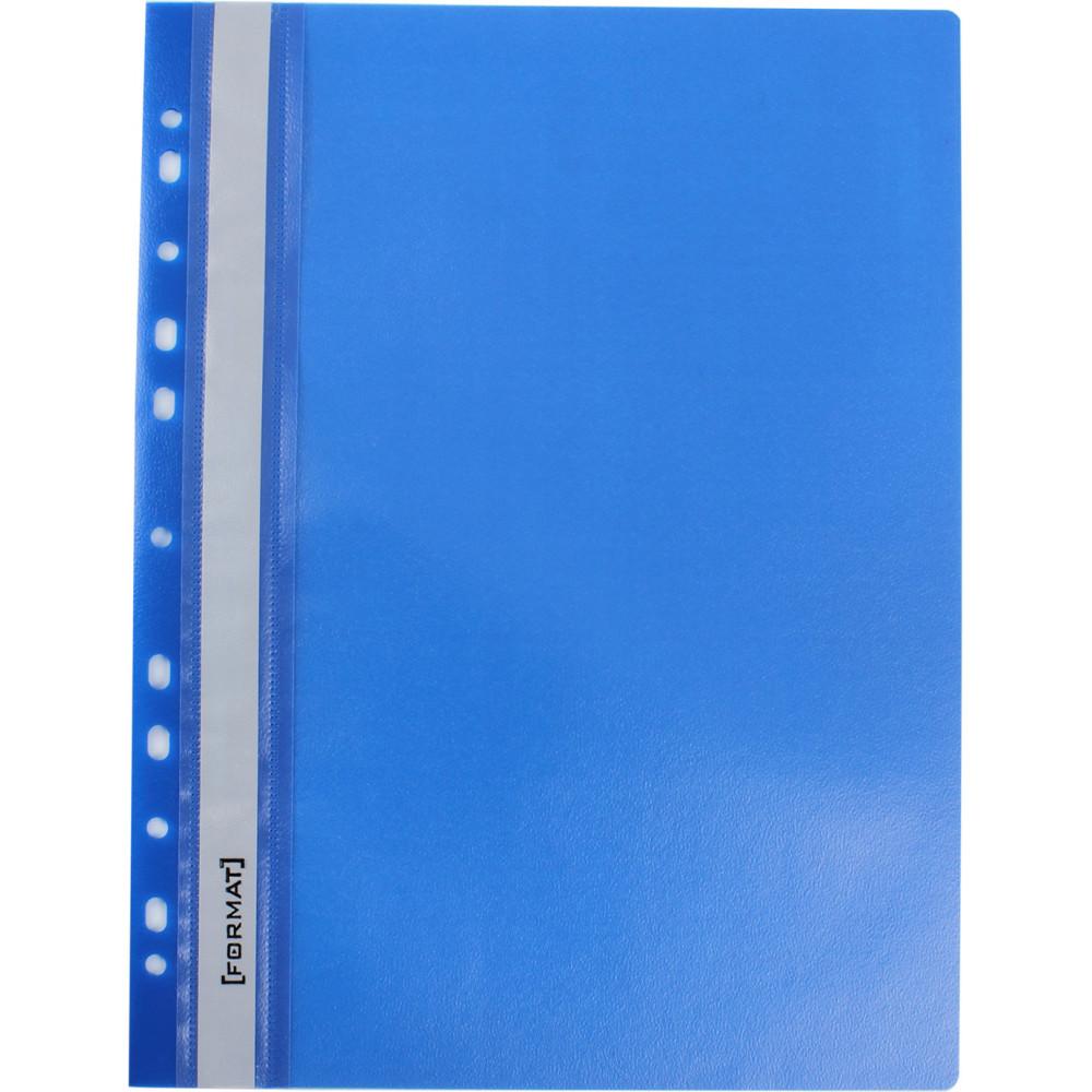 Папка-скоросшивательEconomix Light A4 с прозрачным верхом, с перфорацией, апельсин, синяя (10) (300) №F38504-02