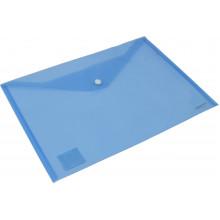 Папка-конверт Axent А4 на кнопке синяя (12) (240) №1402-22