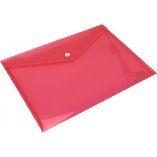 Папка-конверт Economix B5+ на кнопці червона (12) (180) E31302-03