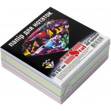 Блок для заміток неклеєний 85х85мм 400 аркушів мікс, 5 кольорів Crystal (40) 0612
