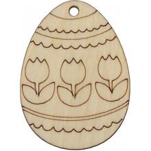 Заготовка фанера декоративное яйцо Тюльпан 6 см