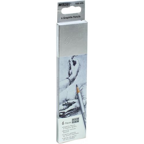 Набiр олівців графітних Marco 2Н-3В (1) (24) (480) №7000DM-6CB