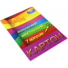 Картон цветной двусторонний А4 7 листов Тетрада (50)