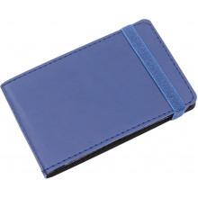 Візитниця на 20 візиток Optima Vivella кишенькова на резинці темно-синя O51615-24